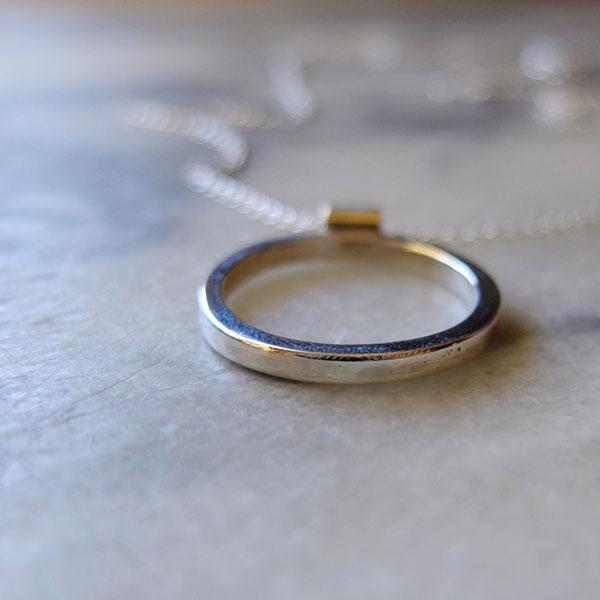 O ring pendant brooke everett maker silver o pendant silver circle pendant aloadofball Choice Image
