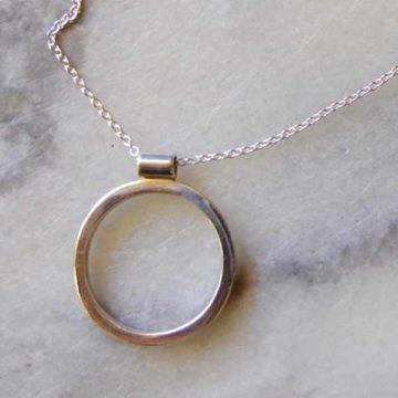 silver o pendant