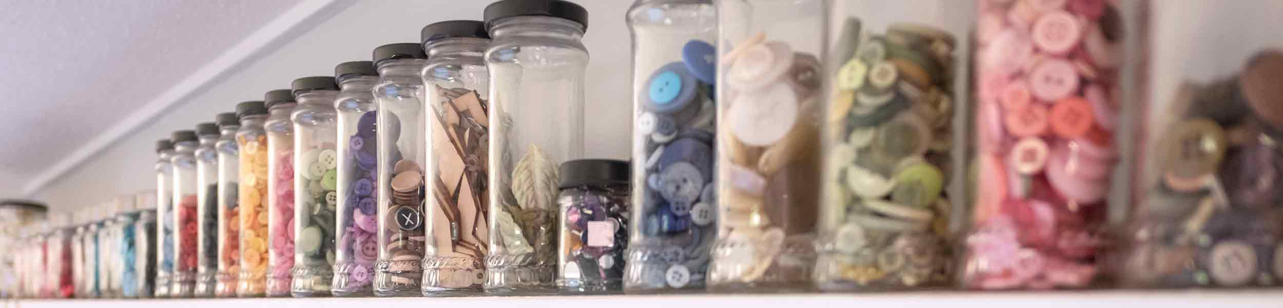 buttons in jars