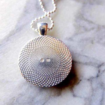 silver monogram pendant